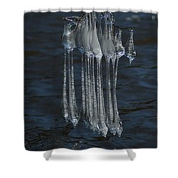 Blue Return Shower Curtain