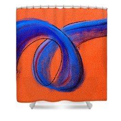 Blue Ribbon Shower Curtain by Hakon Soreide