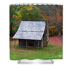 Blue Ridge Cabin Shower Curtain