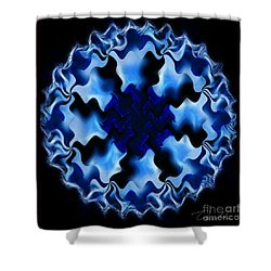 Blue Ripple Shower Curtain by Danuta Bennett
