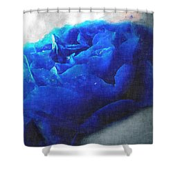 Shower Curtain featuring the digital art Blue Rose by Debbie Portwood