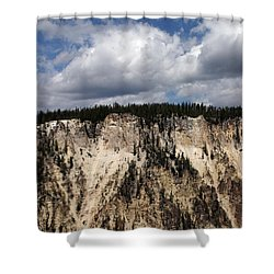 Blue Skies And Grand Canyon In Yellowstone Shower Curtain by Living Color Photography Lorraine Lynch