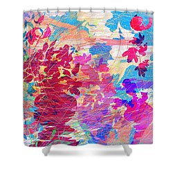 Blue Skies And Magic Pots Shower Curtain by Rachel Christine Nowicki