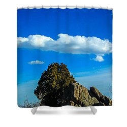 Shower Curtain featuring the photograph Blue Skies by Shannon Harrington