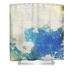Blue Sky And Cloud On Old Grunge Paper Shower Curtain by Setsiri Silapasuwanchai