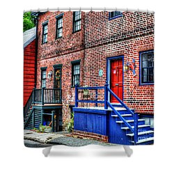 Blue Steps Shower Curtain by Debbi Granruth