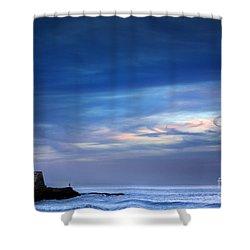 Blue Storm Shower Curtain by Carlos Caetano