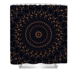 Blue Velvet 4 Shower Curtain by Rhonda Barrett