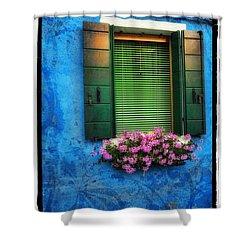 Blue Wall Shower Curtain by Mauro Celotti