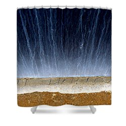 Blue Wall Shower Curtain