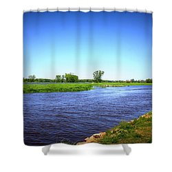 Blue Waters Shower Curtain