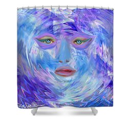 Blue Waters Shower Curtain by Kelly Turner