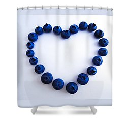 Shower Curtain featuring the photograph Blueberry Heart by Julia Wilcox