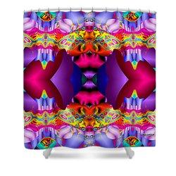 Blueberry Ice Shower Curtain by Robert Orinski