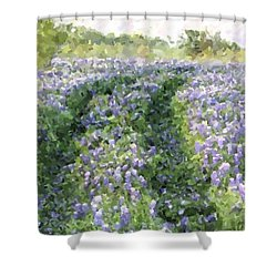 Shower Curtain featuring the photograph Bluebonnet Trail by Donna  Smith