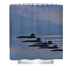 Shower Curtain featuring the photograph Blues by David Gleeson