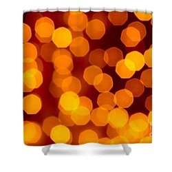 Blurred Christmas Lights Shower Curtain by Carlos Caetano