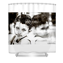 Shower Curtain featuring the photograph Blurred Thoughts by Stwayne Keubrick