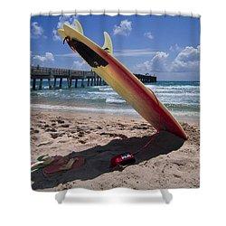 Board Meeting Shower Curtain by Debra and Dave Vanderlaan