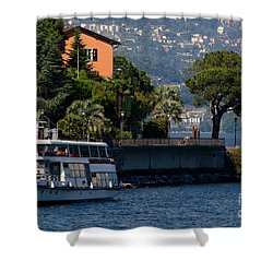 Boat And Tree Shower Curtain