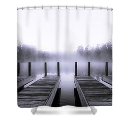 Boat House Shower Curtain by Mary Sparrow