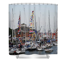 Boat Night Shower Curtain