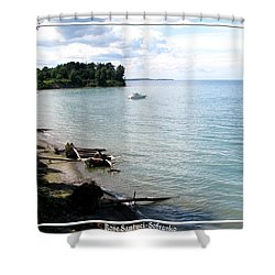 Boat On Lake Ontario Shower Curtain by Rose Santuci-Sofranko
