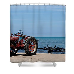 Shower Curtain featuring the photograph Boat Trailer by Barbara McMahon