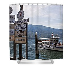 Boat Trip On Lake Maggiore Shower Curtain by Joana Kruse