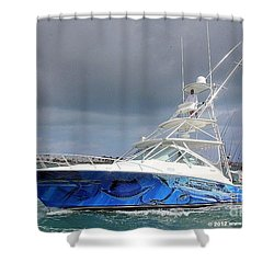 Boat Wrap On Cabo Shower Curtain by Carey Chen