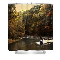 Boating On The Hatchie Shower Curtain by Jai Johnson