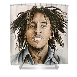 Bob Marley Shower Curtain by Andrew Read