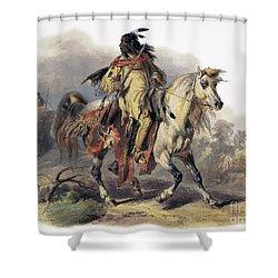 Bodmer: Blackfoot Horseman Shower Curtain by Granger