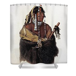 Bodmer: Young Mandan Shower Curtain by Granger