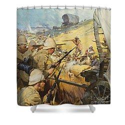 Boer War Skirmish Shower Curtain by James Edwin McConnell