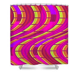 Bold Swirl  Shower Curtain by Louisa Knight