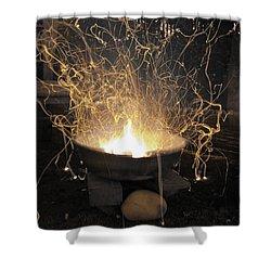 Bonfire Shower Curtain by Sumit Mehndiratta
