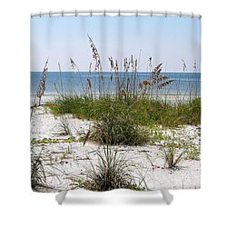 Bonita Beach Shower Curtain by Carol  Bradley