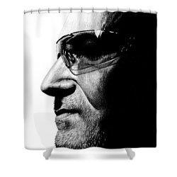 Bono - Half The Man Shower Curtain by Kayleigh Semeniuk