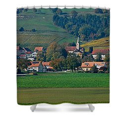 Shower Curtain featuring the photograph Bonvillars by Eric Tressler