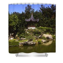 Bonzai Garden And Gazebo 19l Shower Curtain by Gerry Gantt