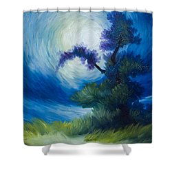 Bonzai II Shower Curtain by James Christopher Hill