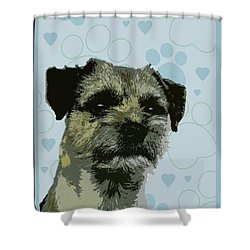 Border Terrier Shower Curtain by One Rude Dawg Orcutt