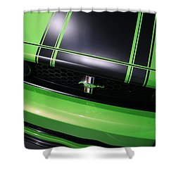 Shower Curtain featuring the photograph Boss 302 Ford Mustang by Gordon Dean II