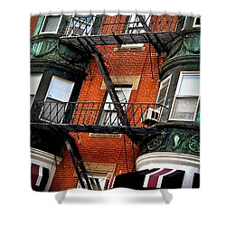 Boston House Fragment Shower Curtain by Elena Elisseeva