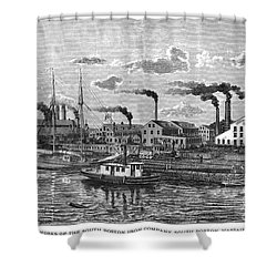 Boston: Iron Foundry, 1876 Shower Curtain by Granger