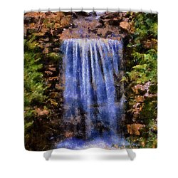 Botanical Garden Falls Shower Curtain by Lynne Jenkins