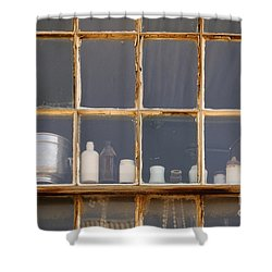 Bottles In The Window Shower Curtain by Vivian Christopher