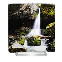 Boulder Cave Falls Revisited Shower Curtain by Jeff Swan