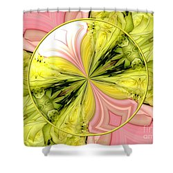 Bouquet Of Roses Kaleidoscope 9 Shower Curtain by Rose Santuci-Sofranko